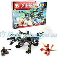 "Конструктор Senco (аналог Lego Ninjago) ""Трехглавый дракон"": 443 детали, 3 фигурки"