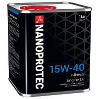 Минеральное моторное масло NANOPROTEC ENGINE OIL 15W40 1L