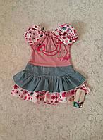 Летнее платье для маленьких девочек Цветочки
