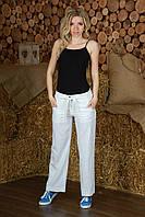 Льняные брюки белые женские