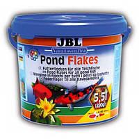 Корм в виде хлопьев для всех видов прудовых рыб JBL Pond Flakes (ЖБЛ) 5,5л