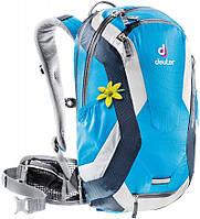Женский велорюкзак 14+4 л. с защитной жилеткой DEUTER SUPERBIKE 14 EXP SL, 32104 3312 голубой
