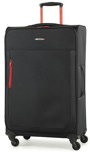 Большой тканевый 4-колесный чемодан Members Hi-Lite (L), 922608 черный