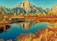 Схема для вышивания бисером Осень в горах(частичная вышивка) КМР 3222