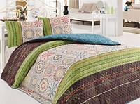Красивое стеганное покрывало на кровать Aries зеленое 200*220