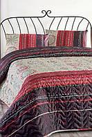 Покрывало для спальни стеганное с наволочками Aries фиолетовое 200*220