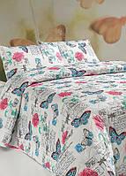 Стеганное покрывало на двуспальную кровать Carmen белое 200*220