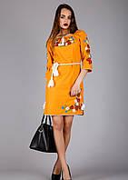 Женское платье вышитое в украинском стиле