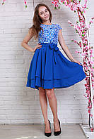 Нарядное платье из королевского гипюра с пышной юбочкой