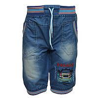 Шорты джинсовые с машинкой на мальчика, на 2 года, Турция