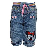 Шорты джинсовые с Микки для девочки, от 2 до 4 лет, Турция