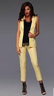 Костюм женский брюки и жилетка в расцветках 10459