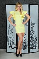 """Женское нарядное летнее мини-платье с воланами на рукавах """"Крылья бабочки"""""""