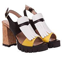 Босоножки женские Aquamarine (на пробковом каблуке, стильное сочетание коле, комфортные, стильные, удобные, мо