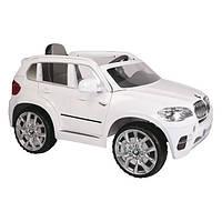 Детский электромобиль Geoby BMW W498QG-L303 белый, открываются двери, пультом дистанционного управления