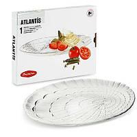 Блюдо стеклянное овальное 32 см Atlantis Pasabahce 10239