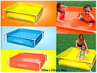 Детский каркасный бассейн Intex 57171 Mini Frame Pool 122*122*30 см