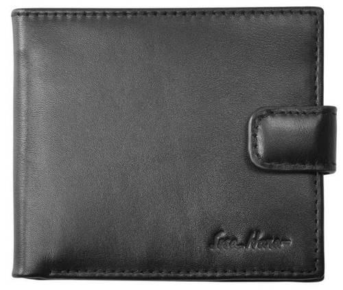 Компактный мужской кошелек на клапане, кожаный ISSA HARA WB1-1 (01-00)