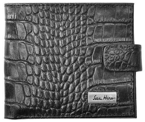 Мужской кошелек с тиснением на клапане, кожаный ISSA HARA WB1-1 (21-00)