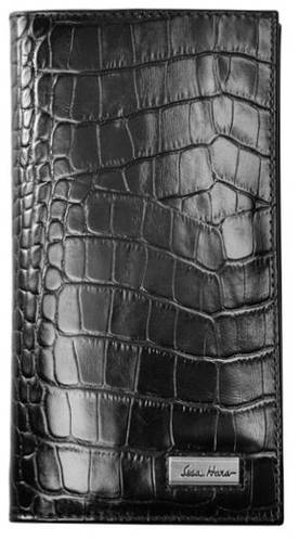Практичное мужское портмоне на каждый день, кожаное ISSA HARA WB20 (21-00)