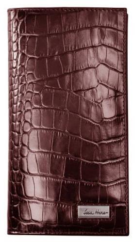 Вместительное мужское портмоне на каждый день, кожаное ISSA HARA WB20 (22-00)