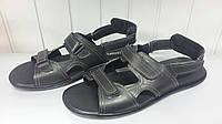 Мужские кожаные сандали черные 46-49 р. Украина