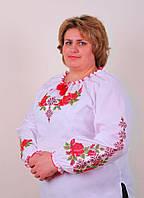 Женская вышиванка на длинный рукав