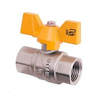Кран шаровой для газа ручка бабочка BB SD Forte БГГ вода (1009F)