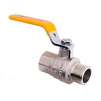 Кран шаровой для газа ручка стальной рычаг SD Forte РГГ (1009В)