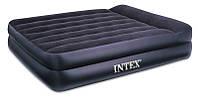 Надувная кровать Интекс Pillow Rest Raised Bed  66720, подголовник, 203х152х47 см, винил, 8,3 кг