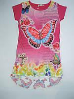 Красивая туника- футболка для девочки 140-174 р