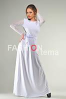 Платье женское Невеста белое ткань масло гипюр