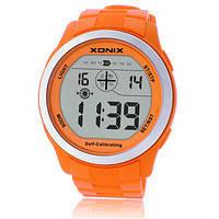 Часы спортивные для дайвинга Xonix GVT-007 (GLT-A02). Водозащита 100м, автокалибровка, цвет оранжевый