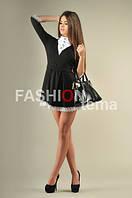 Платье женское из трикотажа с кружевом