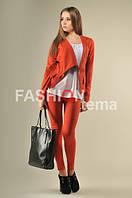 Костюм женский с брюками кирпичного цвета с