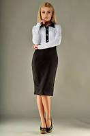 Платье французский трикотаж / черно-белое