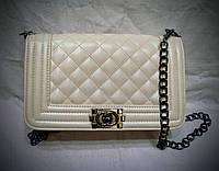 """Женский клатч """"Chanel"""" белого цвета(6 цветов)"""
