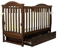 Кроватка для новорожденных Соня ЛД 3 с маятником и ящиком Верес орех