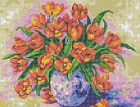 Схема для вышивания бисером Тюльпаны в вазе КМР 3238