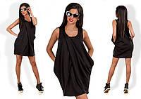 Женское модное платье без рукав Уголок
