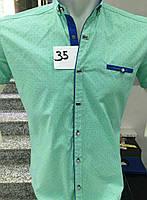 Мужская рубашка с красивым воротником