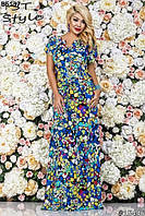 Женское платье в пол летнее 48-58