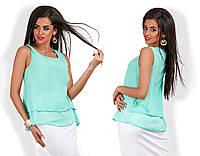 Женская блуза шифон без рукав