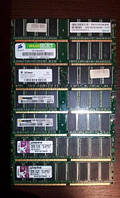 Память DDR 400 на 1 GB  PC 3200 РАЗЛИЧНЫХ ФИРМ ( 1GB DDR400 Mhz PC3200 ) c ГАРАНТИЕЙ ОЗУ ddr1