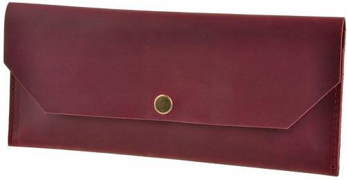 Стильный кожаный кошелек BlankNote BN-KLATCH-1-vin виноград