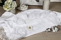 """Благородное крестильное полотенце """"Любовь""""(белый)"""