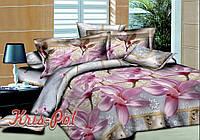 """Комплект постельного белья Евро двуспальный, 3D """"Сон принцессы"""""""
