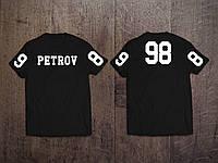 Спортивная мужская именная футболка с номером