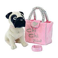 Мягкая игрушка «Chi Chi Love» (5895932) собачка Мопс с сумочкой и браслетом, 20 см
