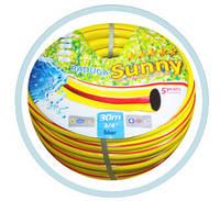 Поливочный шланг Sunny 3/4, 20 м, Радуга желтая
